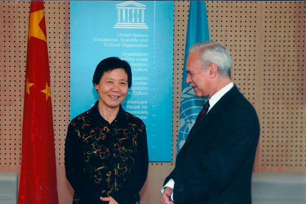 Marcio Barbosa and Ambassador Shi-Shuyun from China, UNESCO.