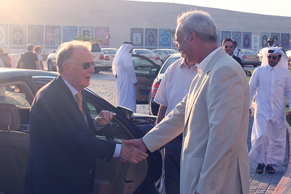 Marcio Barbosa and President Jorge Sampaio of Portugal, Katara Cultural Village, Qatar.