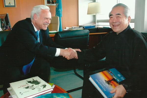 Marcio Barbosa and Professor Fan Zeng at UNESCO