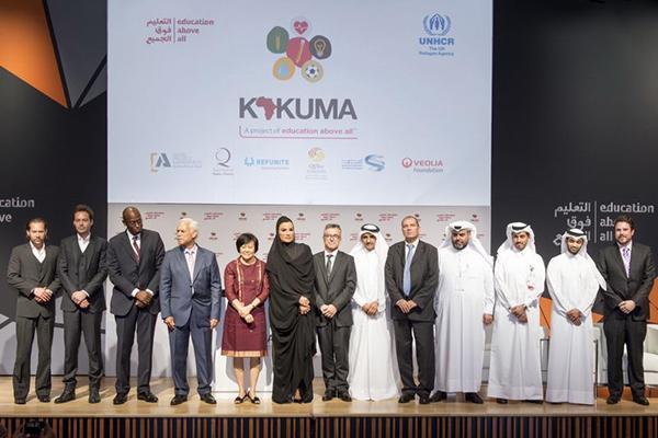 Marcio Barbosa, HH Sheikha Moza bint Nasser, Hassan Al-Tawadi, Ali Al-Khalifa, Kakuma Project